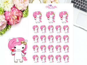 Wine Time Sticker - Pink Unicorn Collection