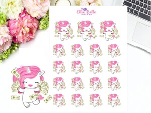 Pay Day Stickers - Pink Unicorn Collection