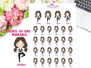 Yoga Sticker - Girl Collection 3