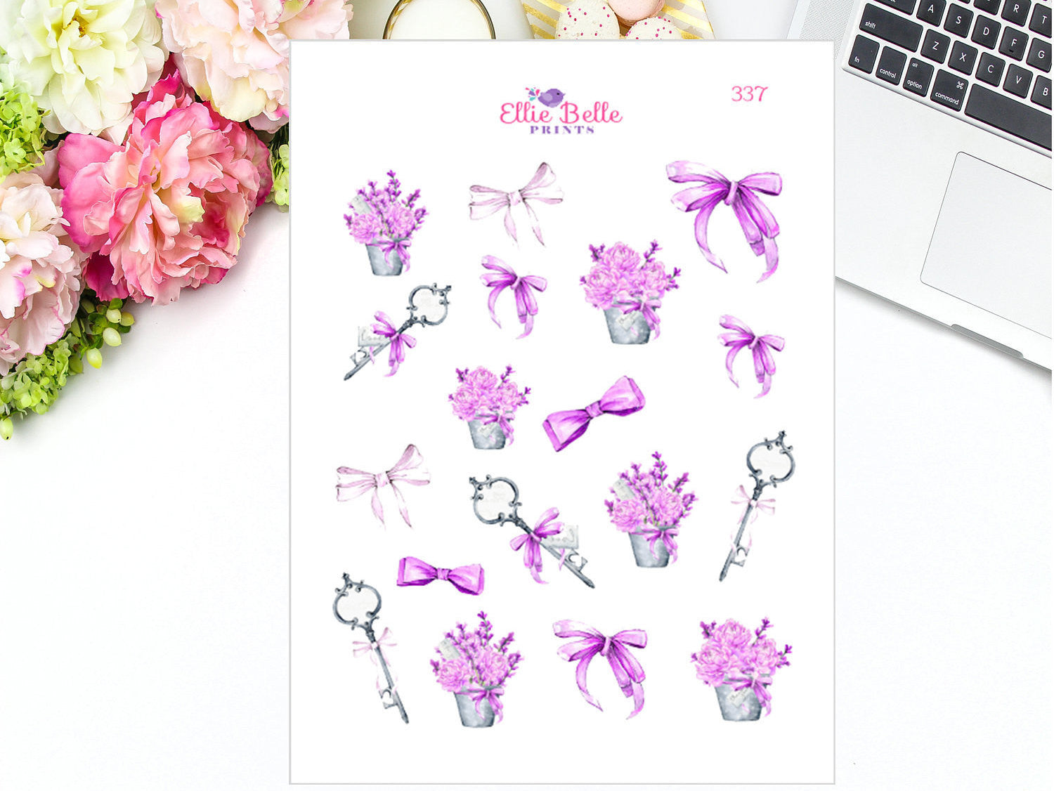 Lavender Keys Collection Decorative Stickers