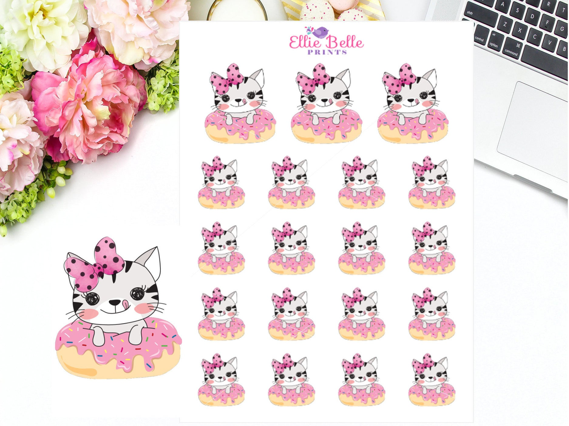 Donut Stickers - Cat Collection