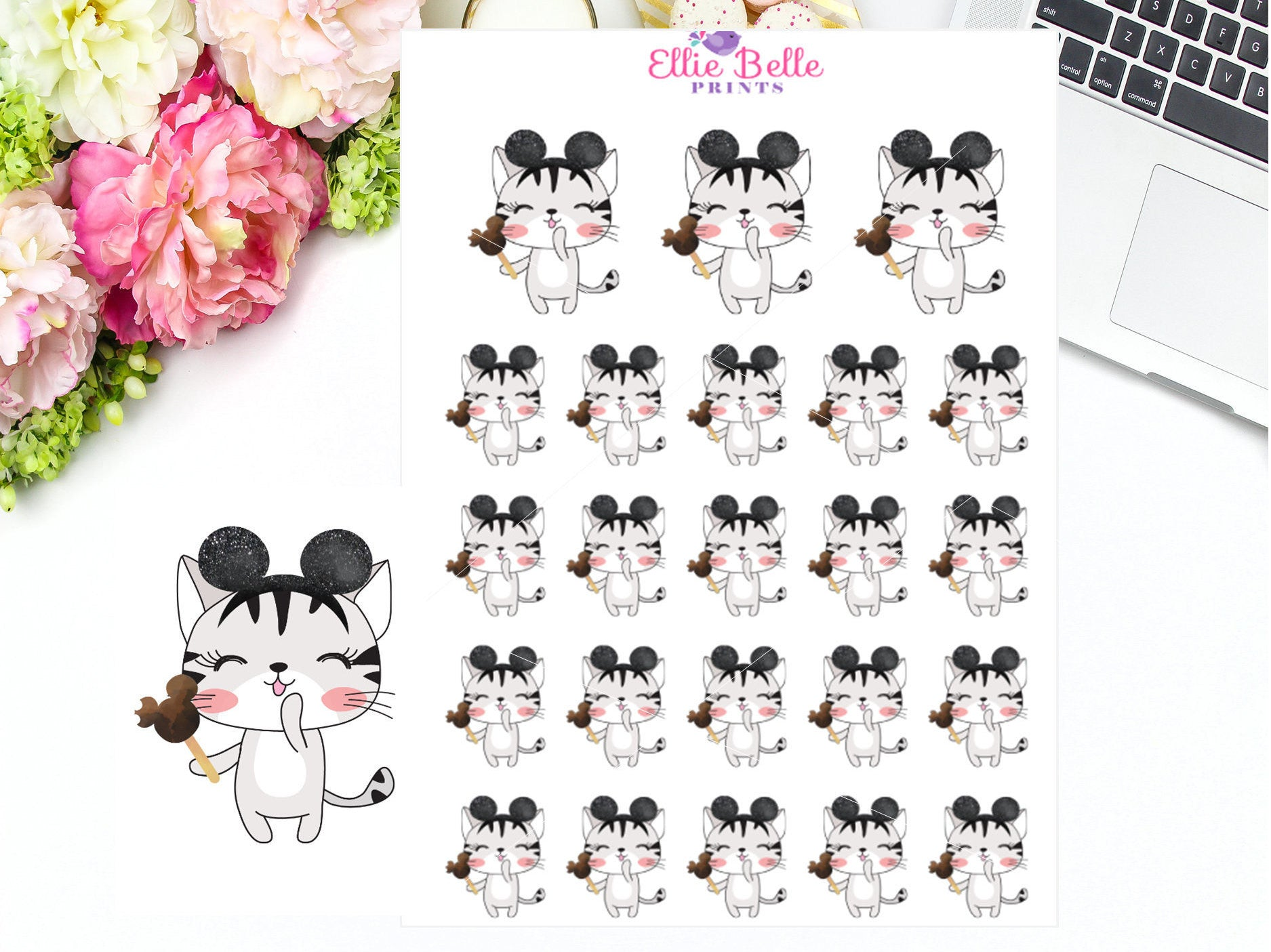 MOUSE EARS - CAT Stickers
