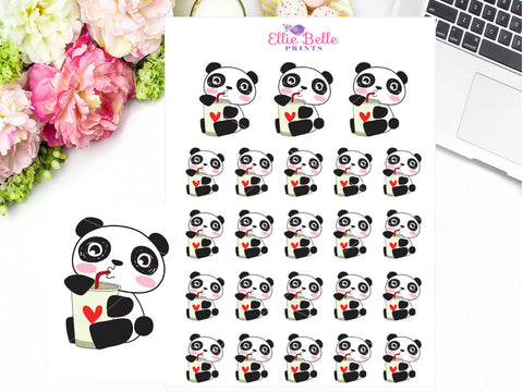 Drinking Sticker - Panda Collection