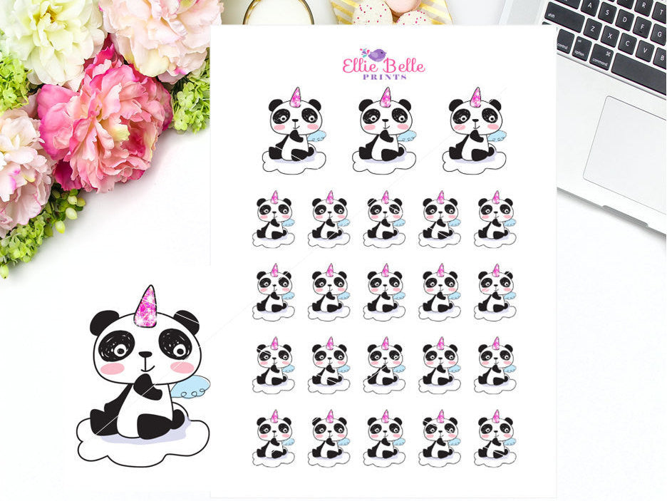 Unicorn Stickers - Panda Collection