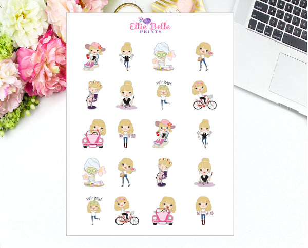 Girl Character Stickers - Girl Collection 4