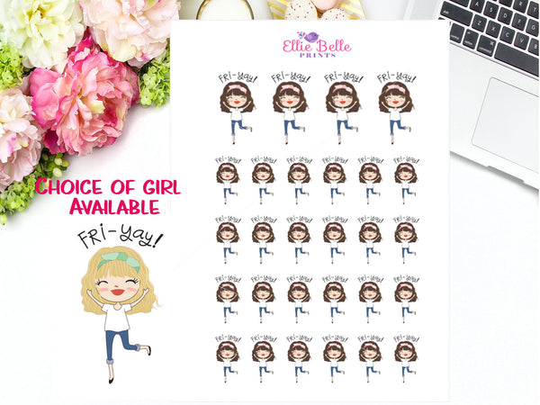Fri-Yay Stickers - Girl Collection 4
