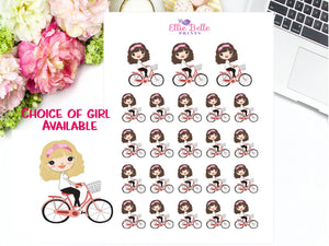 Bike Riding Stickers - Girl Collection 4