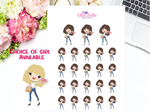 Selfie Stickers - Girl Collection 4