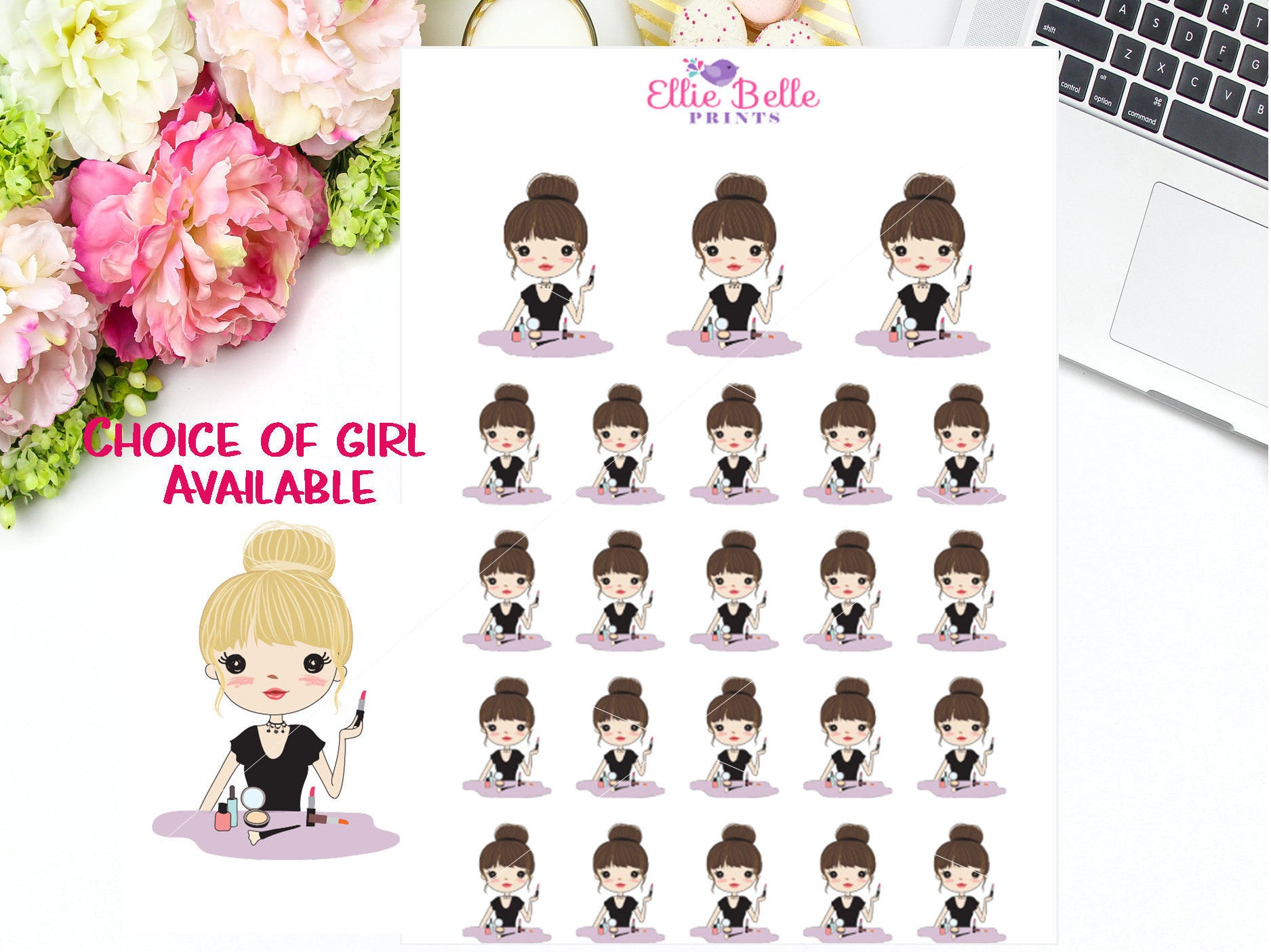 Makeup Stickers - Girl Collection 4