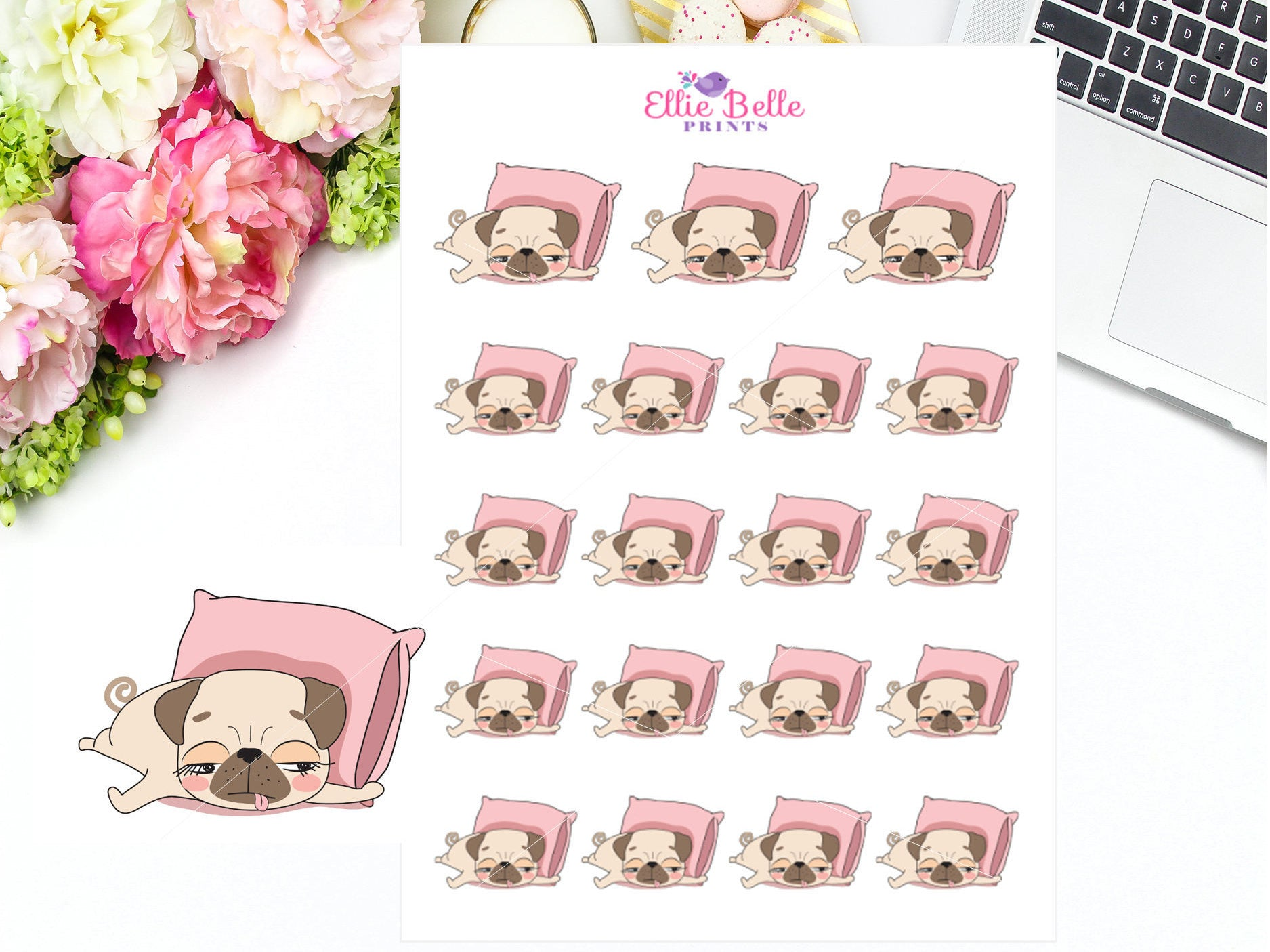Sleep Stickers - Pug Collection