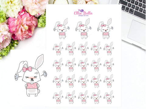 Angry / Mad Rabbit Stickers - Bunny Rabbit Collection