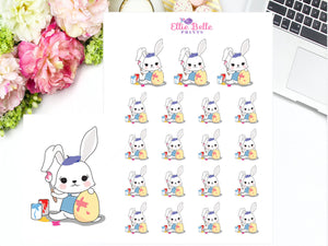 PAINTING - BUNNY RABBIT Stickers