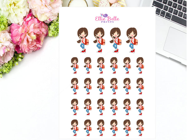 Back Pack Stickers - Girl Collection 5