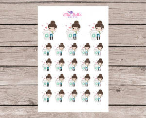 Coffee Love Stickers - Girl Collection 2