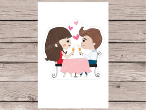 Date Night Stickers - Girl Collection 2
