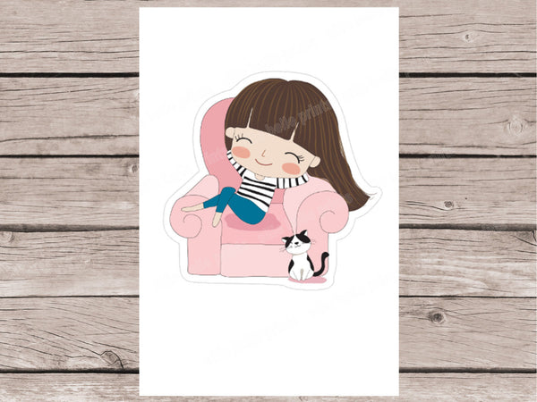 Lazy Day Stickers -Girl Collection 2