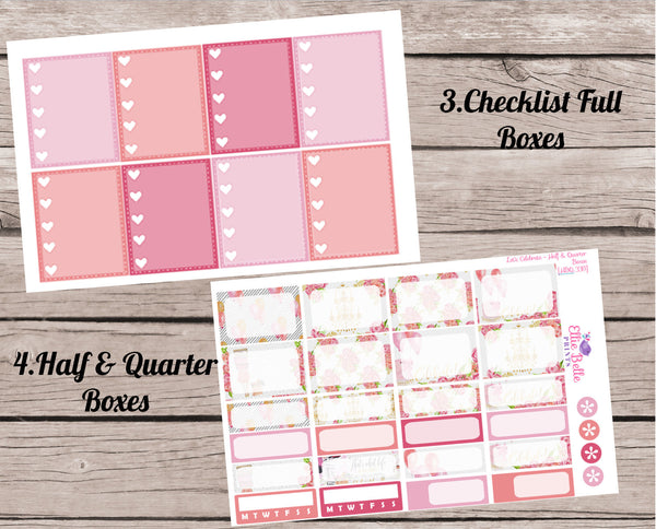 LET'S CELEBRATE COLLECTION - Vertical Weekly Planner Kit [328]