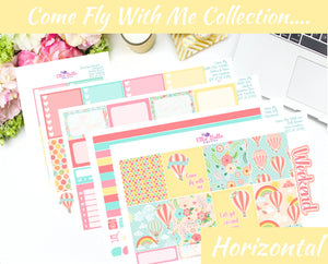 COME FLY WITH ME COLLECTION - Horizontal Weekly Planner Kit [258]