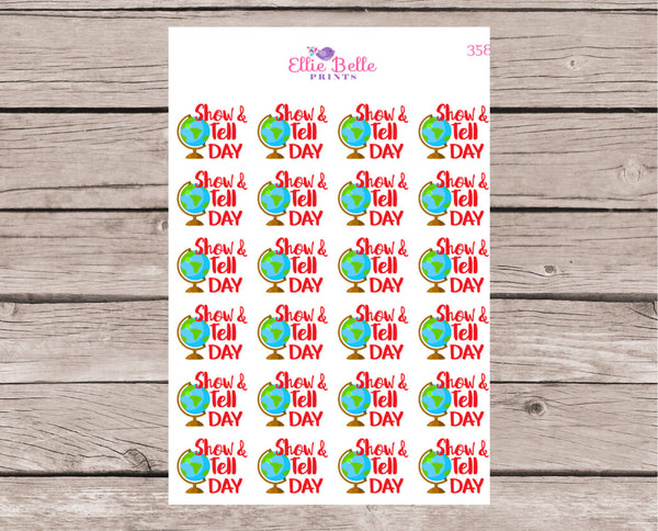 Show & Tell Day Stickers