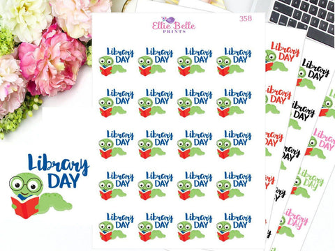 LIBRARY DAY Decorative Stickers