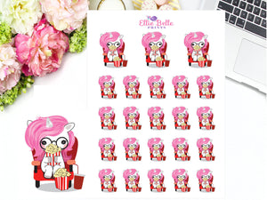 Movie Time Stickers - Pink Unicorn Collection