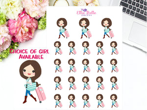 Travel Stickers - Girl Collection 3