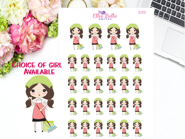 Cleaning Stickers - Girl Collection 3