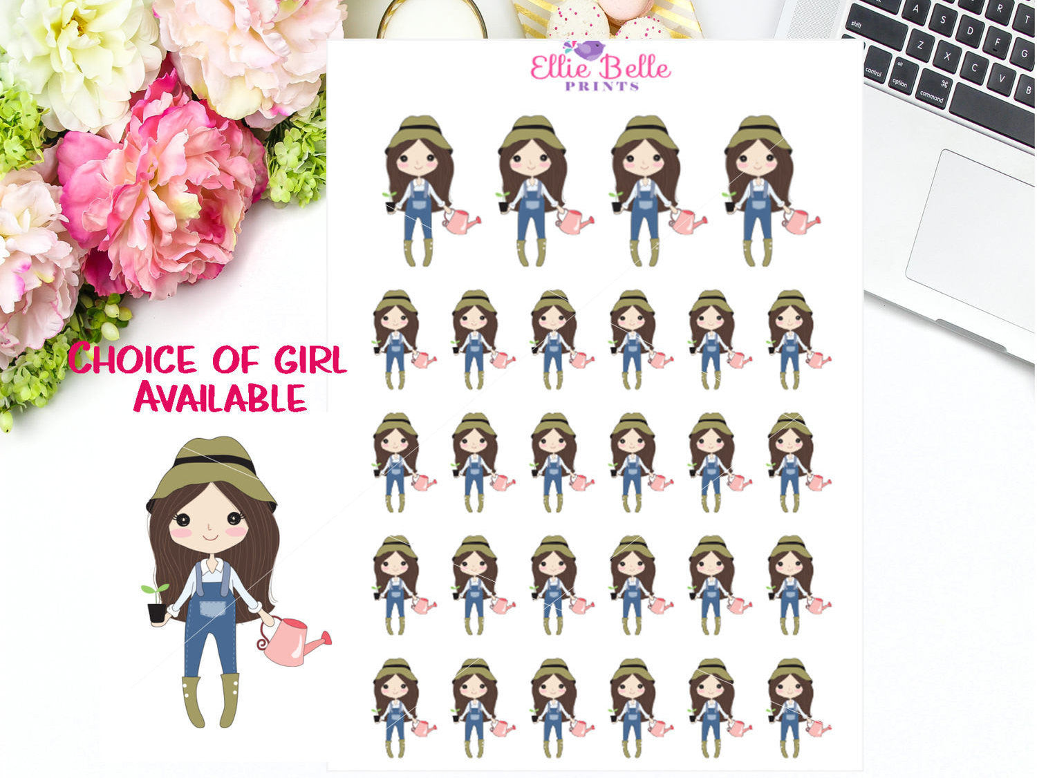 Gardening Stickers - Girl Collection 3