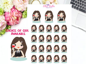 Wine Time Stickers - Girl Collection 3