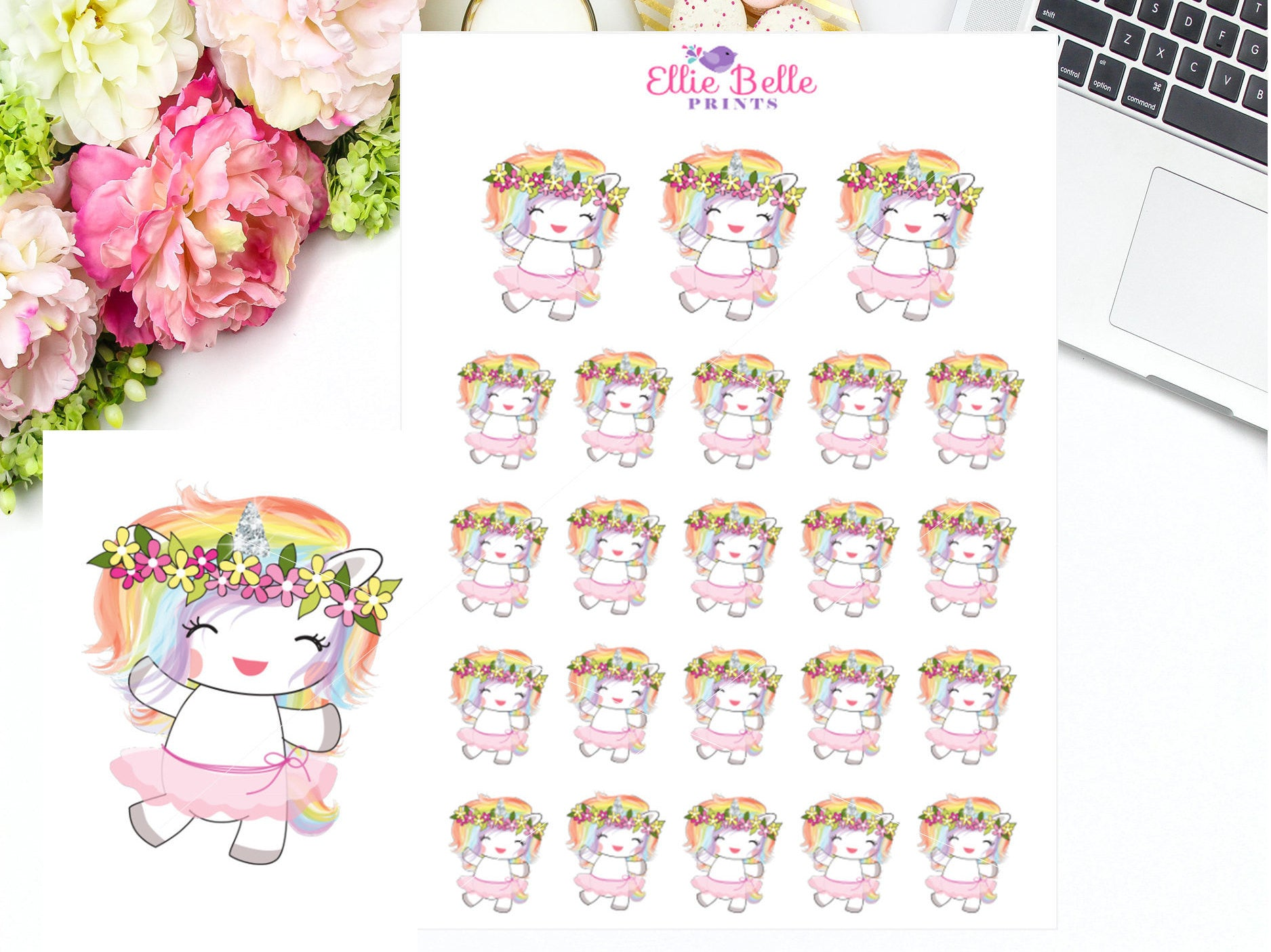 Dancing Stickers - Rainbow Unicorn Collection