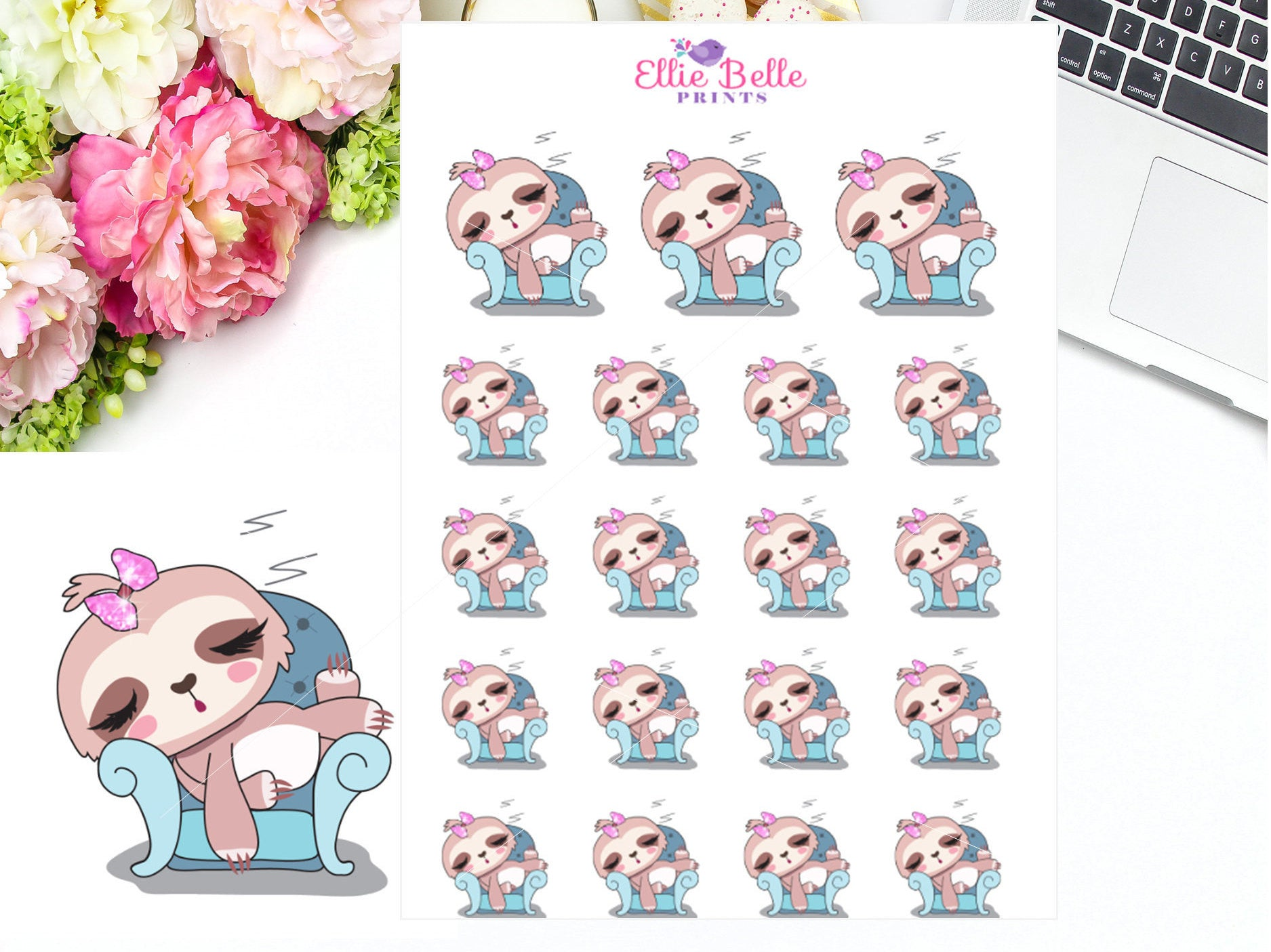 Sleep Stickers - Sloth Collection 1