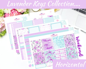 LAVENDER KEYS COLLECTION - Horizontal Weekly Planner Kit [337]