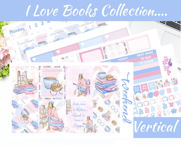 I LOVE BOOKS COLLECTION - Vertical Weekly Planner Kit [361]