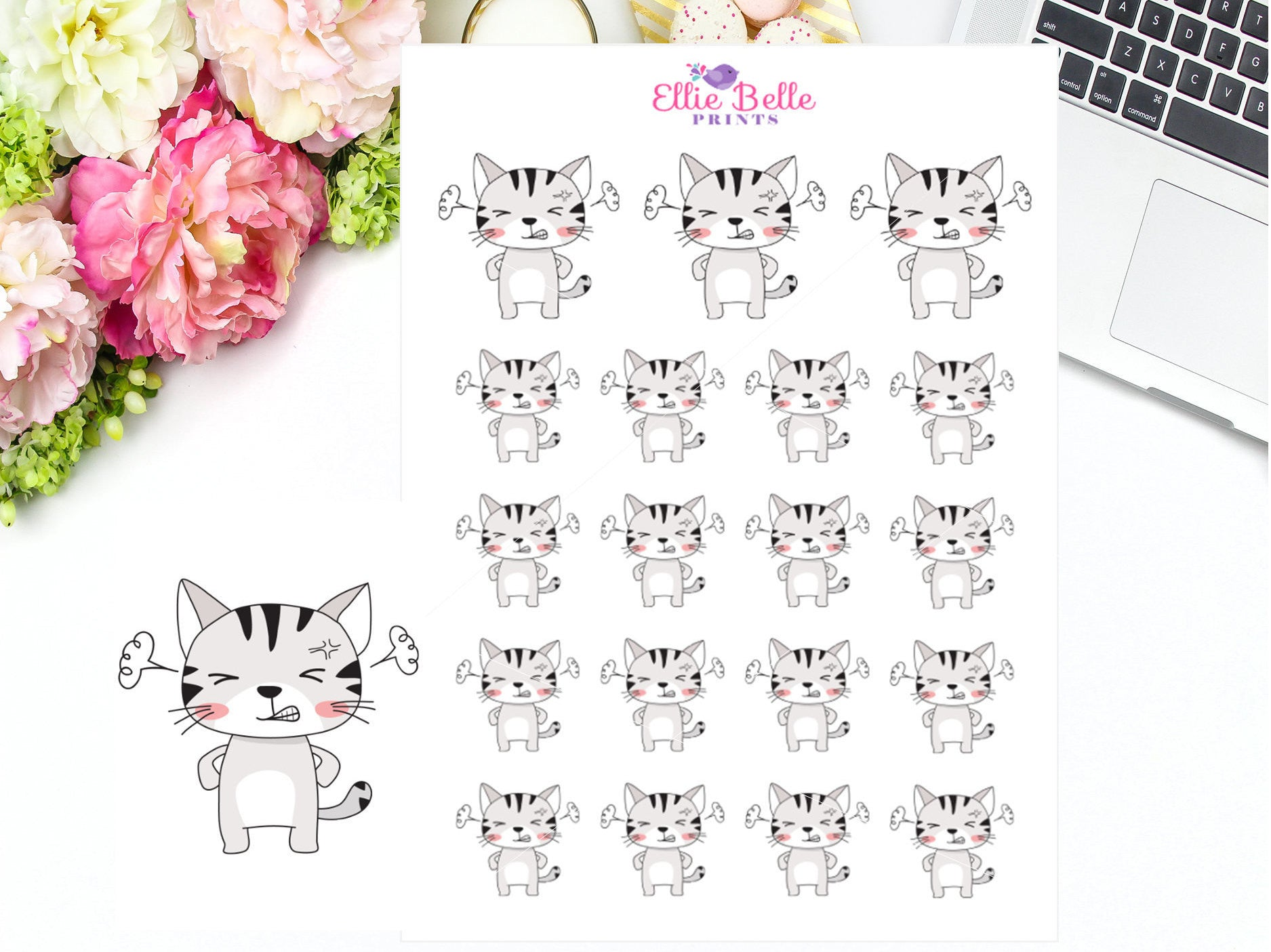 Angry / Mad Cat Stickers - Cat Collection