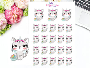 Flying Unicorn Stickers - Cat Collection