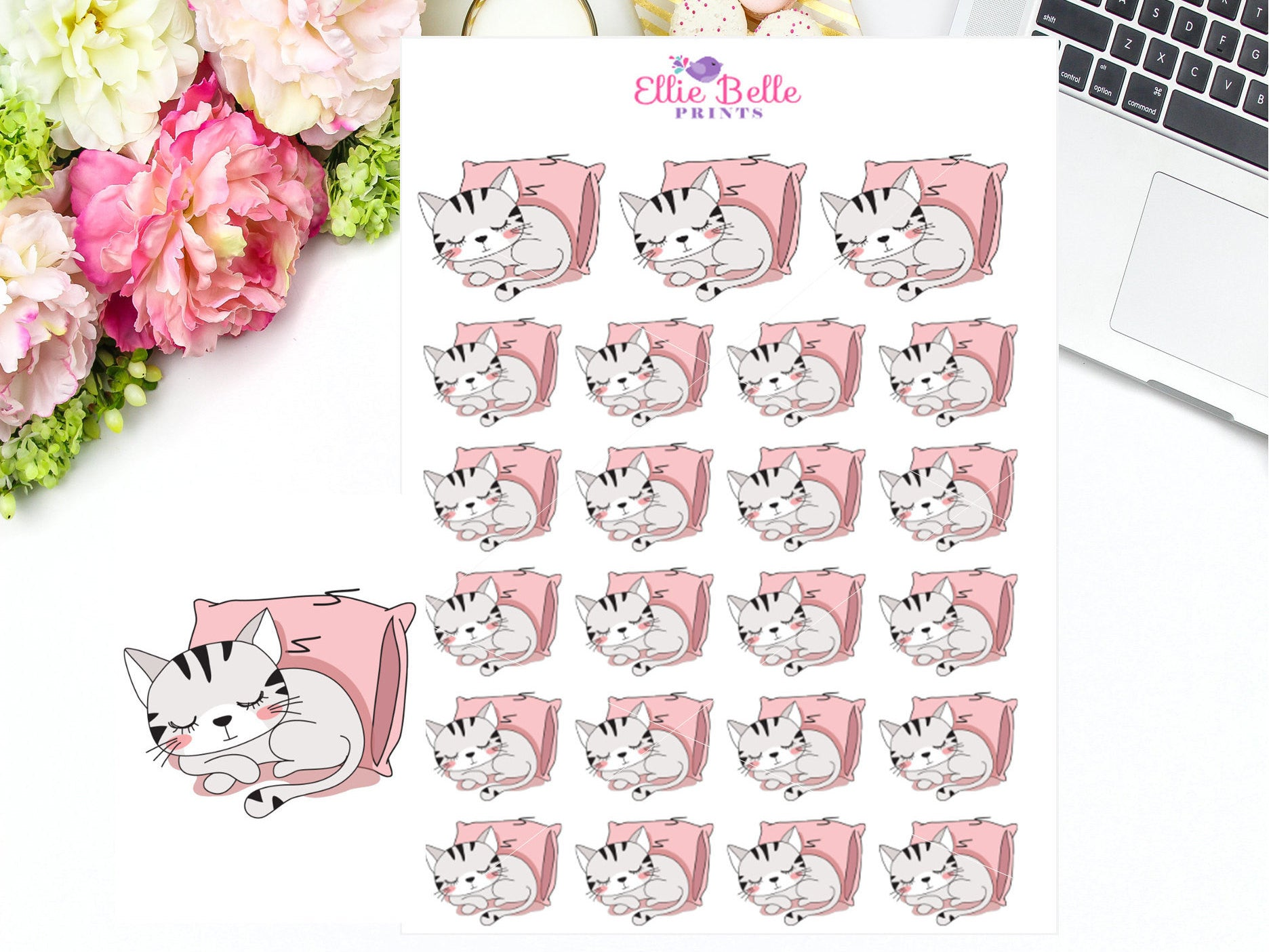 Sleeping Stickers - Cat Collection