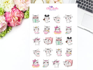 Cat Character Stickers - Cat Collection