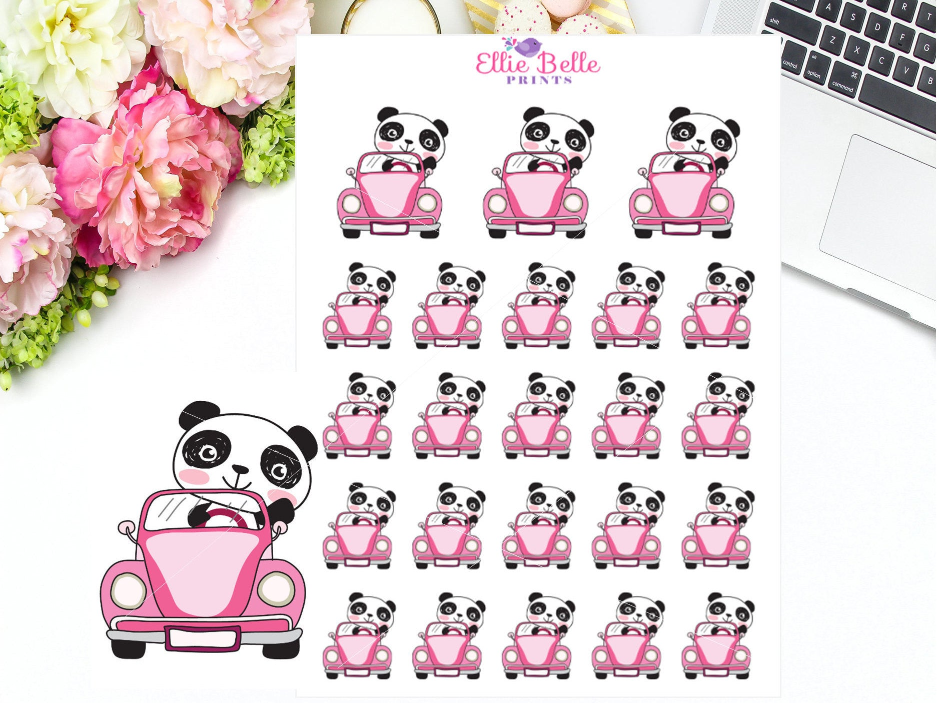 Driving Sticker - Panda Collection