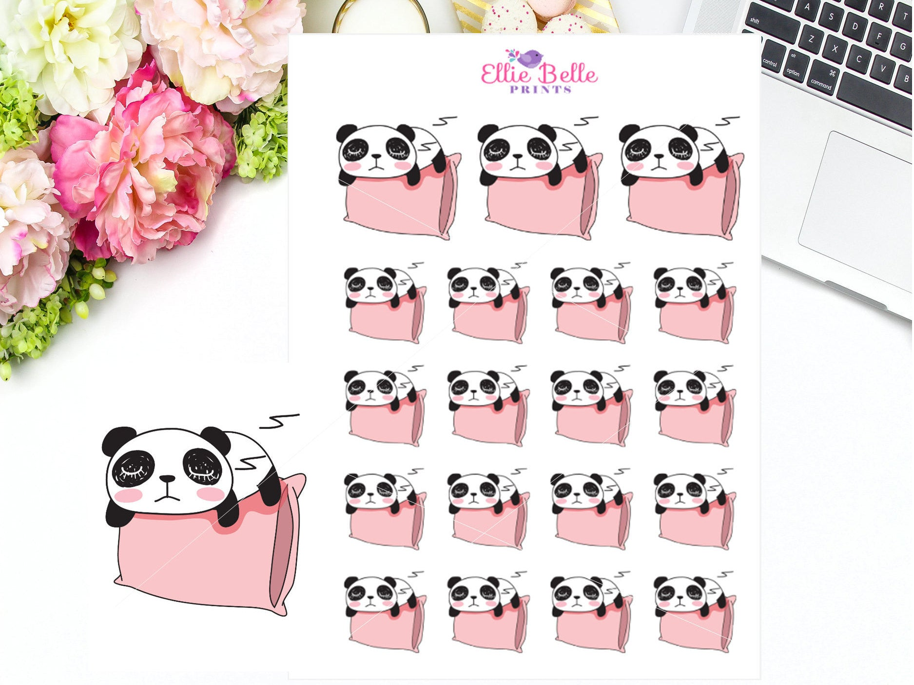 Sleep Stickers - Panda Collection