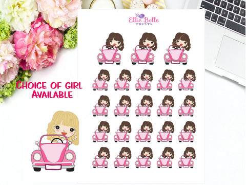 Driving Stickers - Girl Collection 4
