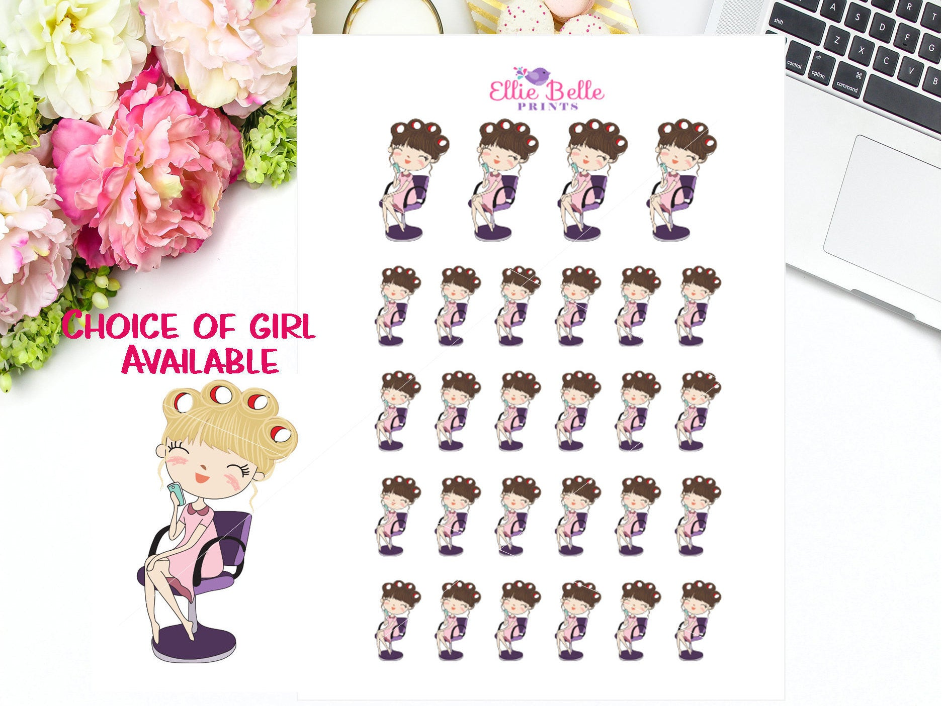 Hair Appointment Stickers - Girl Collection 4