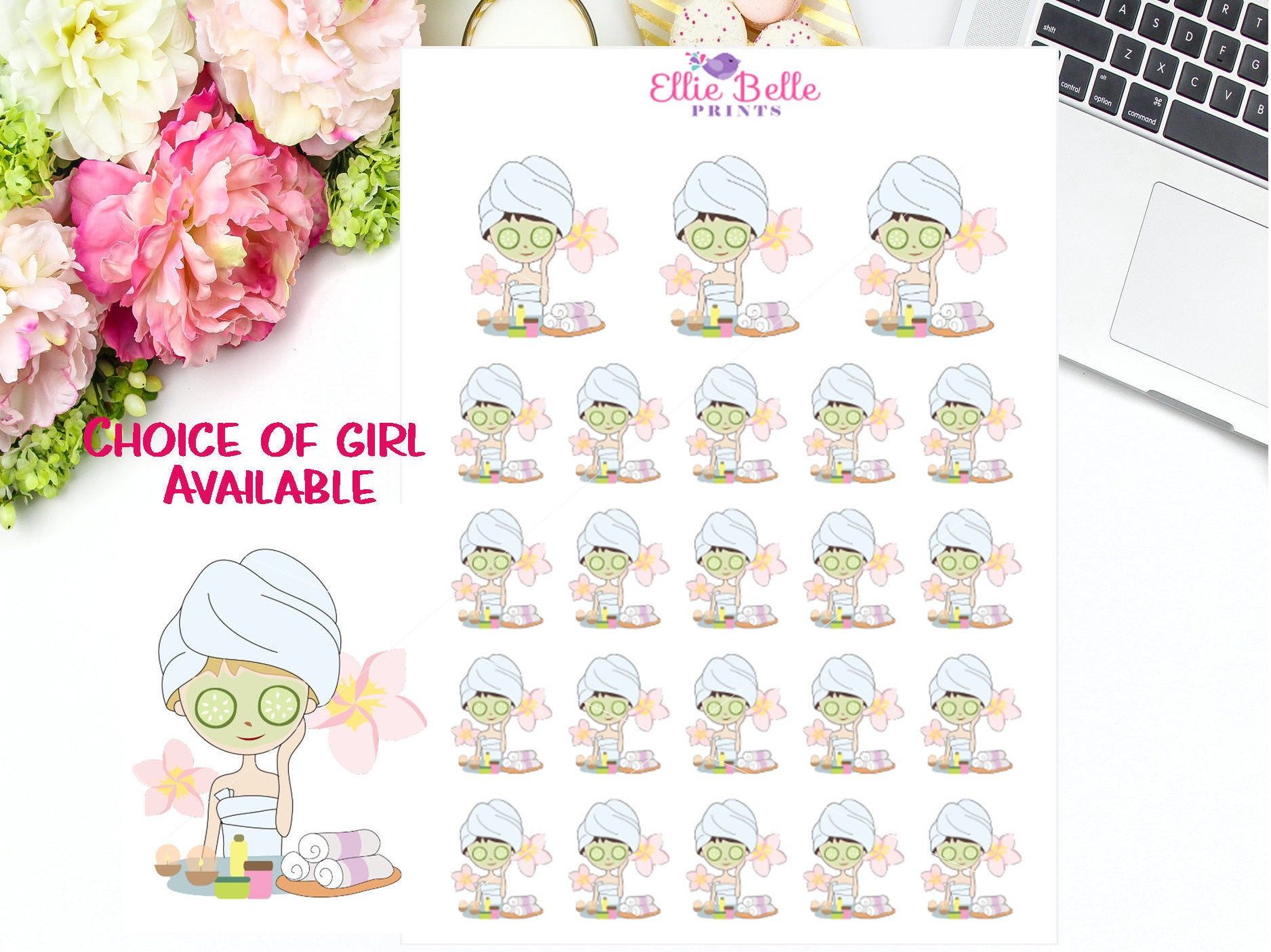 Spa / Facial Stickers - Girl Collection 4