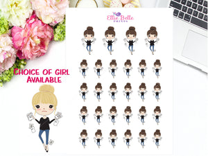 Bill Due Stickers - Girl Collection 4