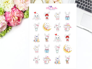Bunny Rabbit Character Stickers - Bunny Rabbit Collection