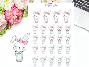Drinking Stickers - Bunny Rabbit Collection