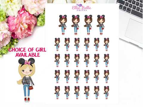 Mouse Ear Stickers - Girl Collection 5