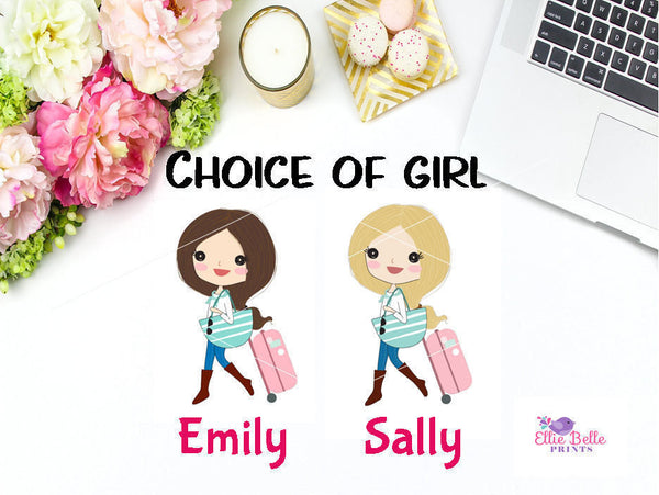 Phone Call Stickers - Girl Collection 5