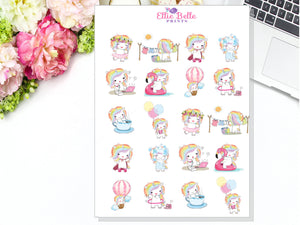 Rainbow Unicorn Character Stickers - Rainbow Unicorn Collection