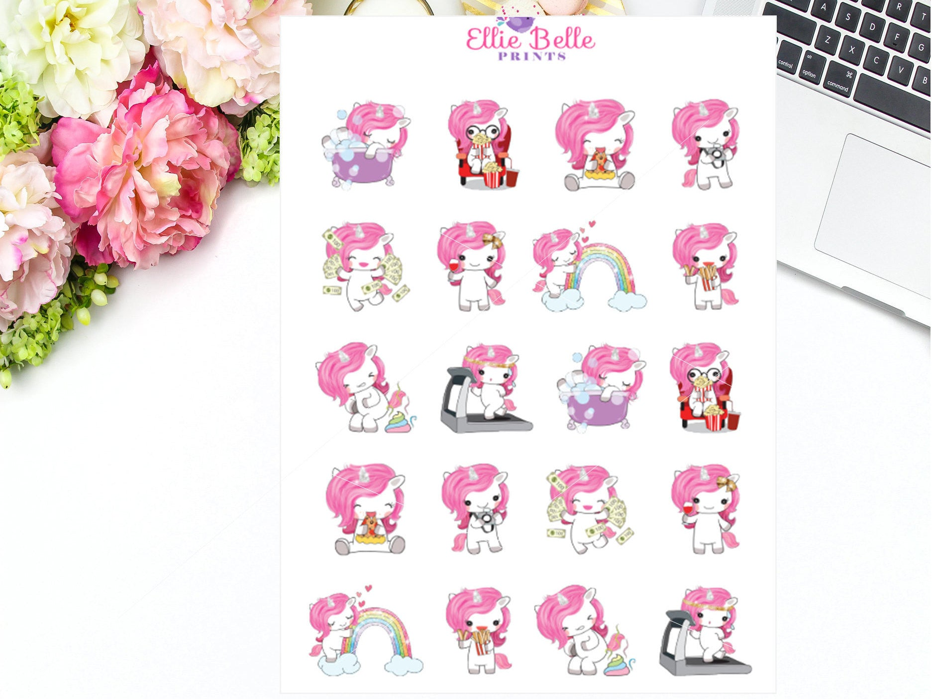 Pink Unicorn Characters - Pink Unicorn Collection