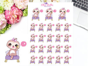 Phone Call Stickers - Sloth Collection 2